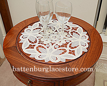 Round Doily Christina Crystal PS