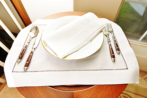 "Linen Placemat. All Linen. Coconut Milk color. 14""x20"". 1 piece."
