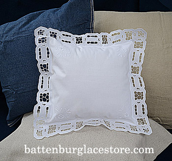 Baby Square Pillow Sham. Dynasty Design Embroidery.12x12 SQ.