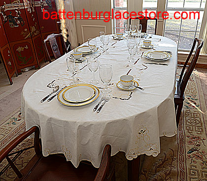 Imperial Style tablecloth. OVAL