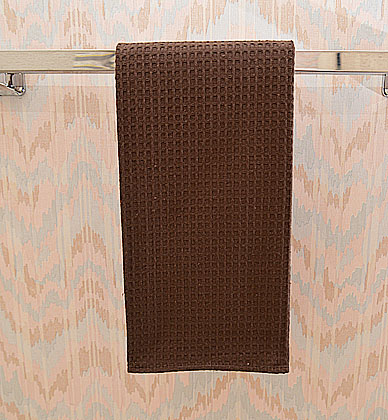 "Waffle Weave Kitchen size 18x26"". Brown color. Each"
