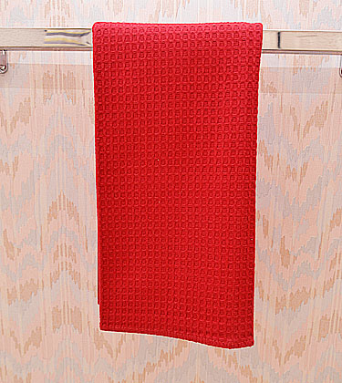 Waffle Weaves Kitchen size towel. Red. Each
