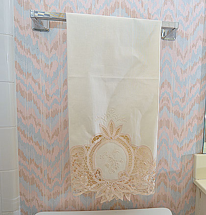 Towels - Bath.Battenburg Lace