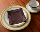 Cocktail Napkin. Designer Fashion color.FRENCH ROAST (12 pieces