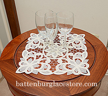 Doilies Organza Square.12 in.Christina Butterflies.(2 pcs)