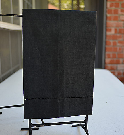Black Colored Hand Towel