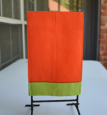Hand towel Festive Mulit Colored Exotic Orange & Lime Punch
