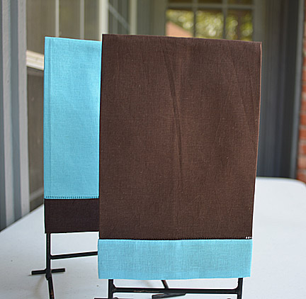 Hand Towel Festive Mulit Colored Chocolate & Bachelor Button