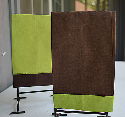 Hand Towel Festive Mulit Colored Chocolate & Lime Punch color