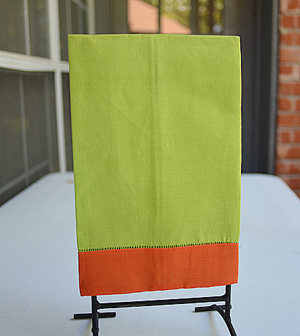 Hand Towel Festive Mulit Colored Lime Punch & Exotic Orange