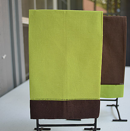 Hand Towel Festive Multi Colored Lime Punch & Chocolate
