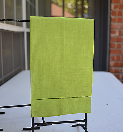 Lime Punch colored hand towel