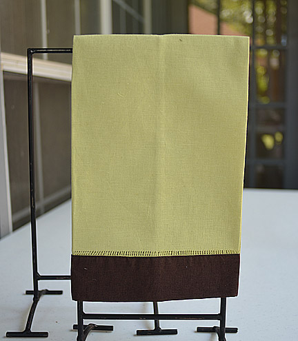 Hand Towel Festive Mulit Colored Mellow Green & Chocolate
