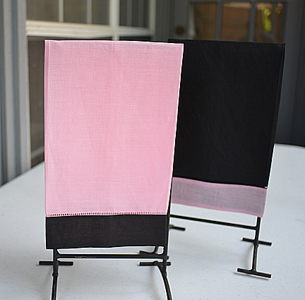 Hand Towel Festive Multi Colored Pink & Black colored