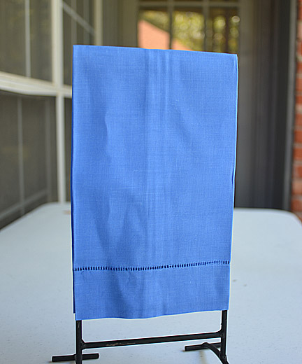 French Blue colored hand towel