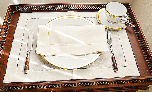 "Linen Placemat. Natural Winter White Linen Placemat. 14""x20"" 1pc"
