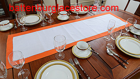 Table Runner. Color Trims. 16x54