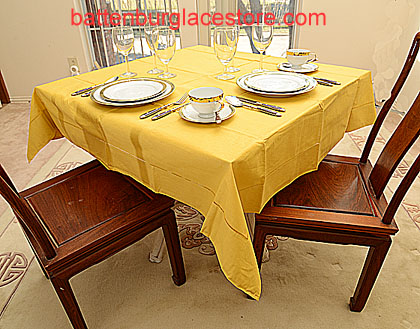 Square Tablecloth HONEY GOLD color 54 inches square.