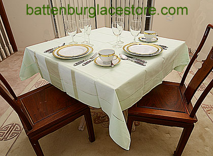 Square Tablecloth.MEADOW MIST color.54 inches square