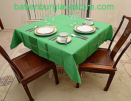 Square Tablecloth.MINT GREEN color. 54 inches square