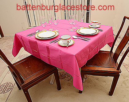Square Tablecloth.RASPBERRY SORBET color.54 inches square