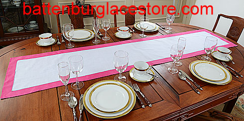 Table Runner. Color Trims. 16x72
