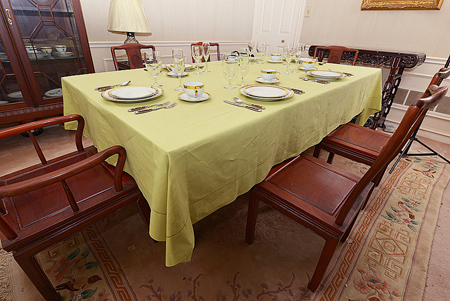 Festive Tablecloth. Celery Green. Size: 70x100""